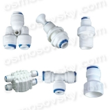 Fittings, adapters, couplings, valves and fittings of reverse osmosis
