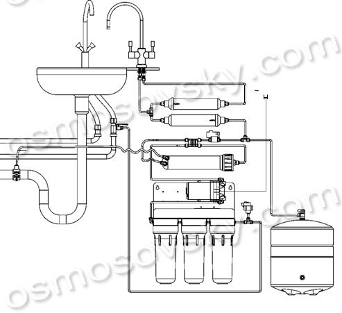 схема подключения Filter1 RO 6-36MP