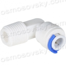 "Aquafilter A4ME4-W knee 1/4 ""RN x 1/4"" to the pipe fitting to the filter housing, post-filter"