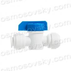 Aquafilter BV250WJG шаровый кран 2 x 1/4 под трубку, прямой проточный кран 1/4 дюйма, кран промывки