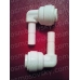 Aquafilter A4SE4 колено - регулятор 1/4 к шлангу х 1/4 вкладыш, фитинг для корпуса фильтра, постфильтра