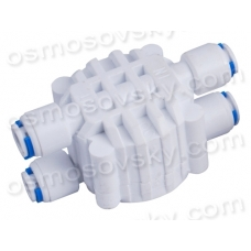 "Four-way shut-off valve 1/4 ""QC x4; QC SV-1"