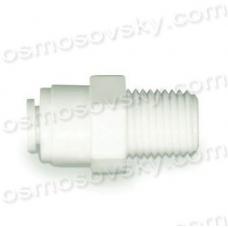 Atoll MС0404 переходник прямой 1/4 РН x 1/4 к трубке, фитинг для корпуса фильтра, постфильтра