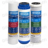 Crystal cartridges reverse osmosis