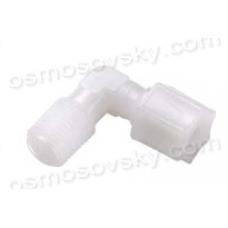 "4044 knee 1/4 ""RN x 1/4"" to the pipe fitting to the filter housing, post-filter"