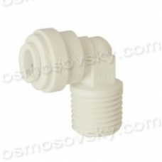 John Guest Speedfit PP480822W 1 / 4OD by 1 / 4NPT corner for reverse osmosis filter, fitting the filter housing, post-filter