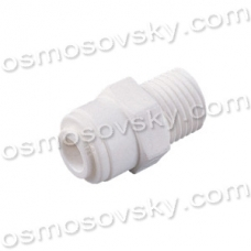 Organic WA-MC0404 Coupling RN 1/4 x 1/4 to the tube fitting of the filter housing, post-filter