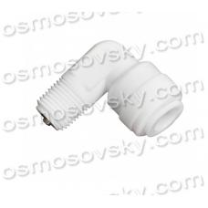 """Aquafilter A4ME2-CV-W коліно із зворотним клапаном 1/8 """"РН х 1/4"""" до трубки, фітінг для корпусу мембрани"""