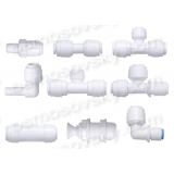 Organic fittings, valves and fittings of reverse osmosis